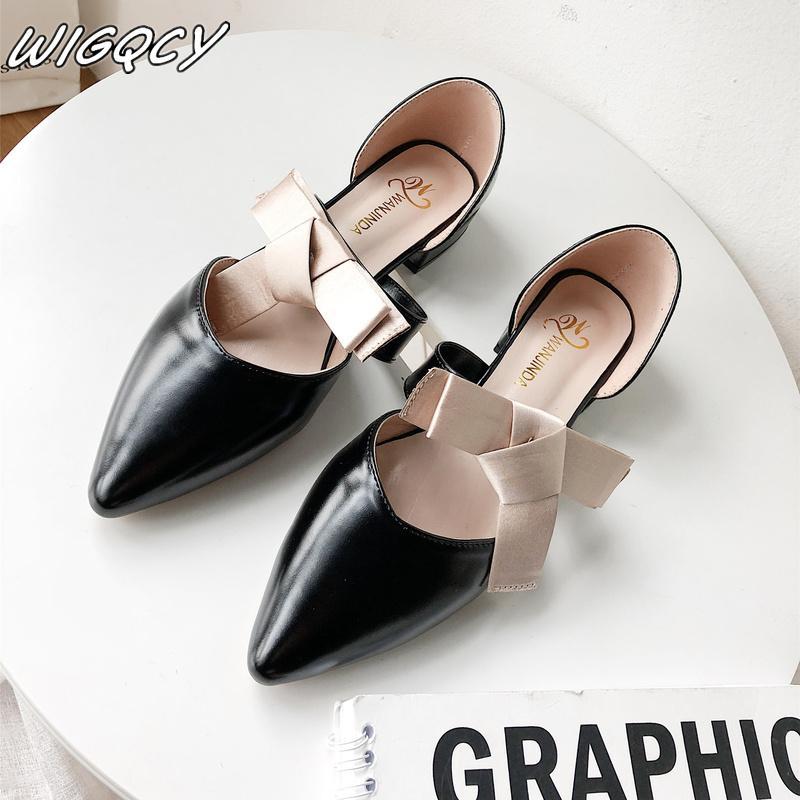 Sommer-Frauen-Slides gemütliche hohe Absätze Frauen Satz Füße in spitzen Absätzen Schuhe für formale Kleid-Partei