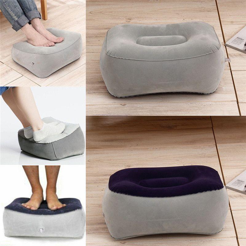 2019 En Yeni Sıcak Moda Satış Şişme Ayak istirahat Yastık Yastık Hava Seyahat Office Ev Bacak Yukarı Footrest Relax