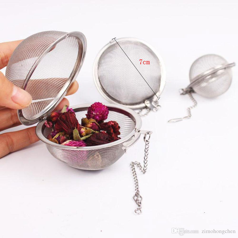 Acero inoxidable Bloqueo de especias Bola de malla Colador de té Infusor Filtro Hierba Especias Difusor Productos para el cuidado de la salud Flores Herramientas de té