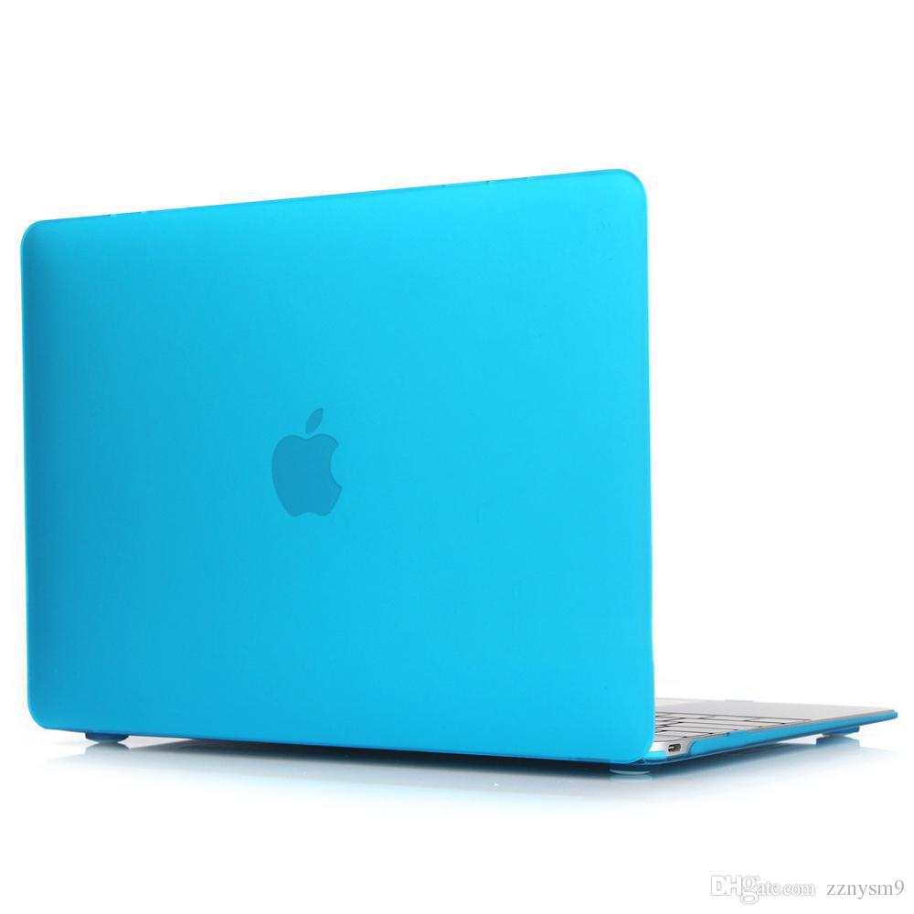 Clear Matte Rubberized Hard Case Cover for Macbook Pro 13 inch A1706@A1708 Laptop Shell Lake Blue