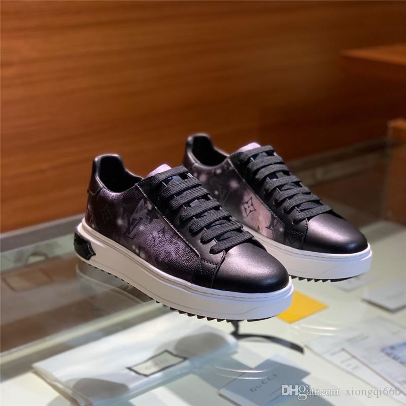 kutusuyla, konforlu ve rahat spor ayakkabıları çok yönlü 2020 erkek yeni yıldızlı gökyüzü ayakkabılar,