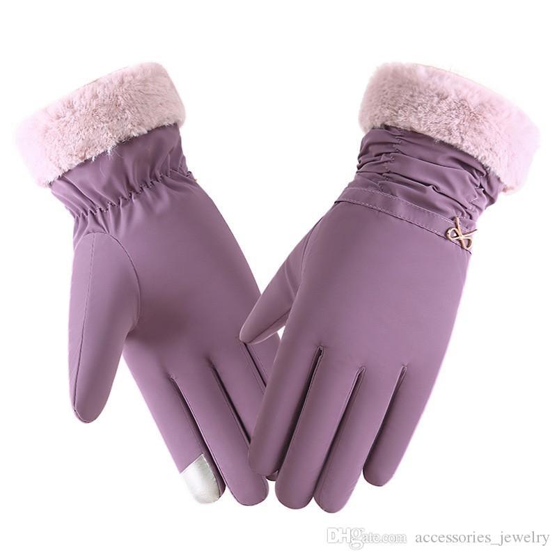 Classique conception Les femmes mignonnes Gants imperméables beau multi couleurs écran tactile Five Fingers Gants pour le cadeau