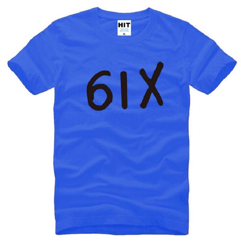 Nuevo diseñador Seis Drake T Shirts camiseta Moda Rap Hip Hop Hombre Camiseta Swag de los hombres del algodón de la manga corta Drake Hiphop 6IX masculino