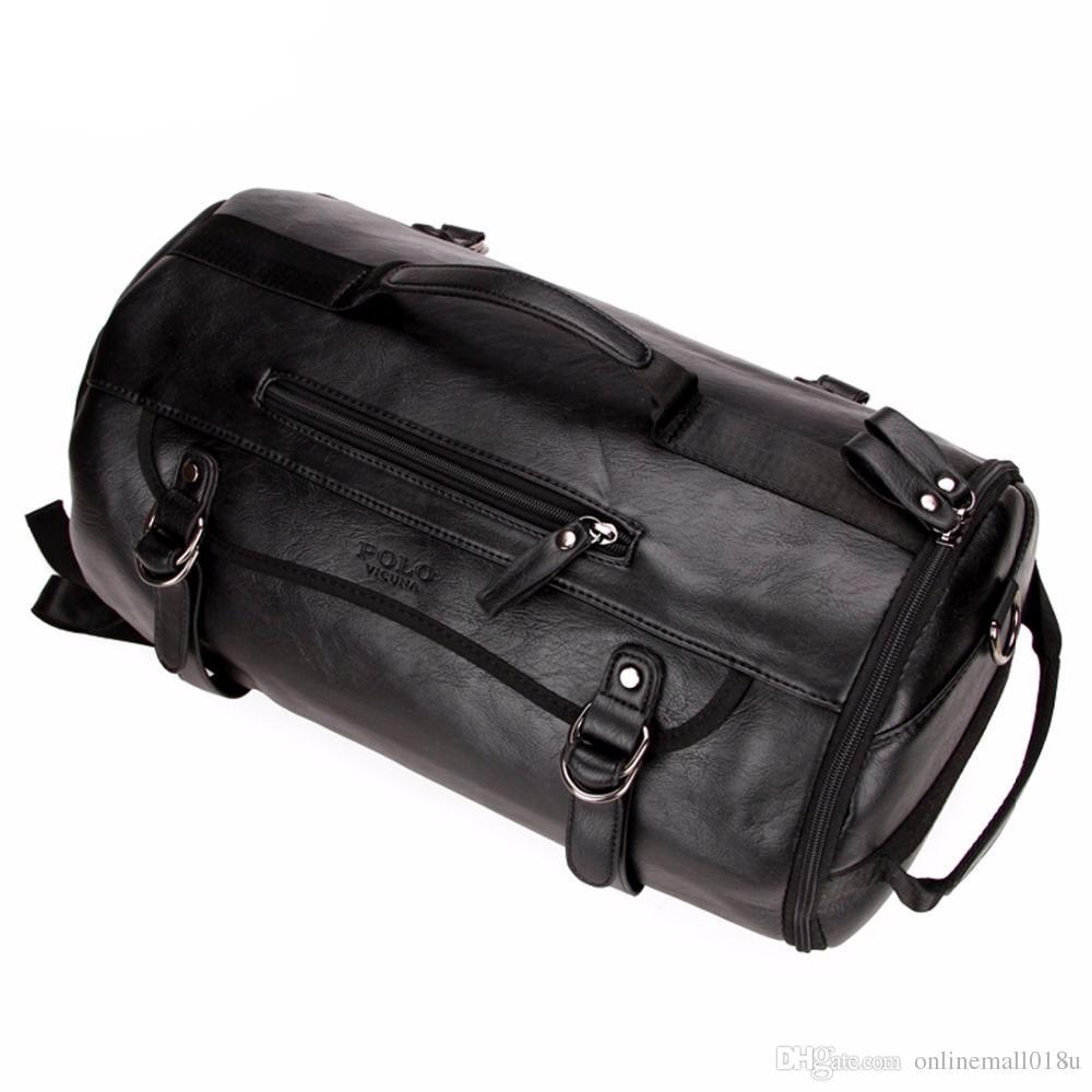 Persönlichkeit Große Größe Runde Leder Herren Reisetasche Mode Rollen Reiserucksack Für Mann Berühmte Seesack