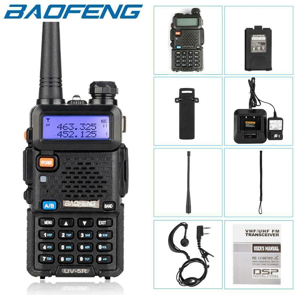 Baofeng UV-5R UV5R Walkie Talkie Dual Band 136-174MHZ 400-520 МГц Двухсторонний радиопередатчик с батареей на 1800 мАч Бесплатная доставка