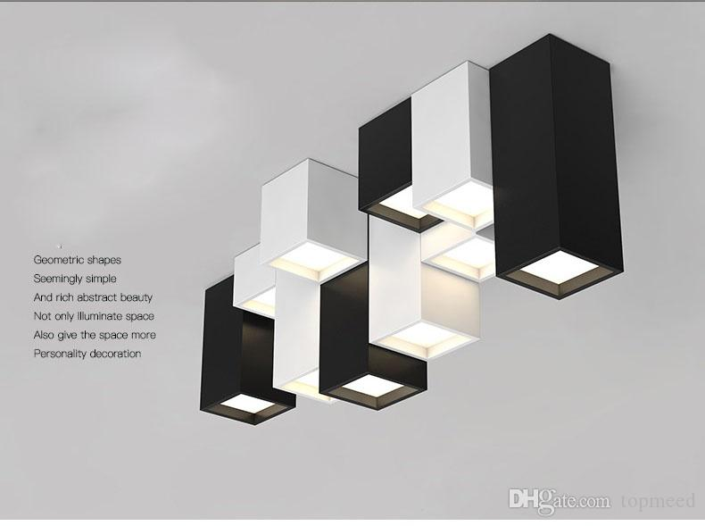 مزيج الإبداعية الحديثة وجيزة الاكريليك من الإضاءة LED سقف لاعبا اساسيا المنزل ديكو شخصية مصباح السقف مربع