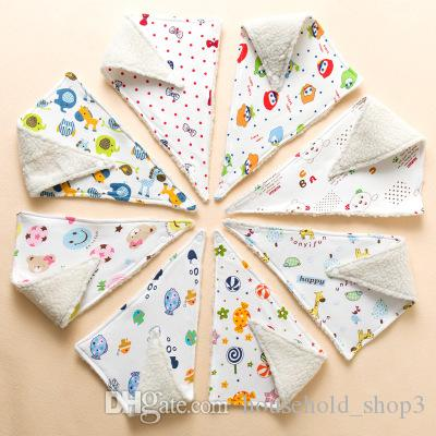 Baby Bib, Baby Bandana Drool Bibs Cute Cartoon Pattern Baby Feeding Drinking Bib Snap On Triangular Towel