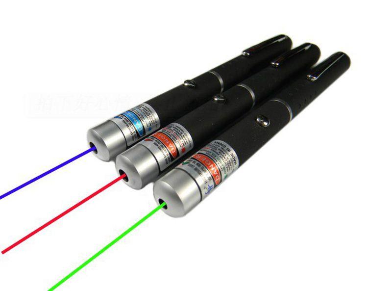مؤشر البصر بالليزر 5 ميجا واط عالية الطاقة أخضر أزرق أحمر نقطة القلم قوية ليزر متر 530Nm 405Nm 650Nm الليزر الأخضر القلم