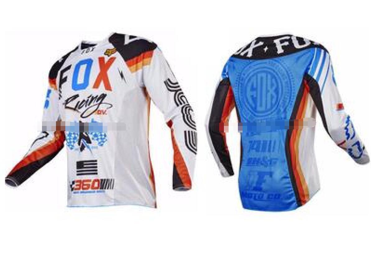 Fuchs Downhill Anzug Mountainbike langärmelige Sommer Hemd Männer Offroad-Motorradbekleidung Gewohnheit