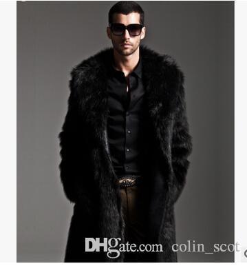 Mens Faux 모피 코트 롱 트렌치 코트 모피 칼라 스웨이드 자켓 남성 코트 워머 따뜻한 겨울 남성 자켓