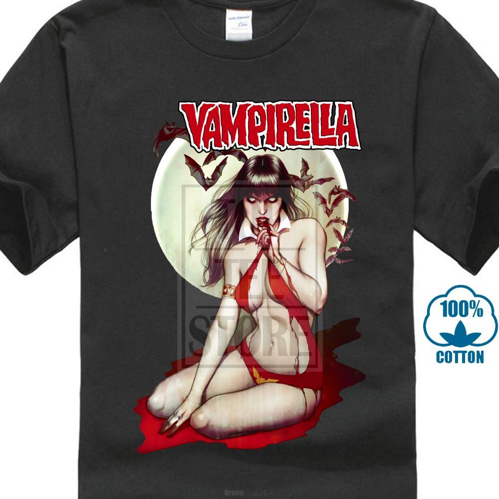 Vampirella V8 Film Schwarz T-shirt Alle Größen S 4xl Neue Ankunft Männlichen Tees Casual Boy T-shirt Tops Rabatte