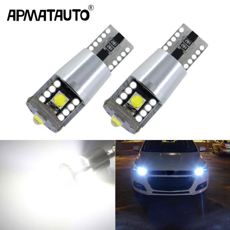 Apmatauto 2x CANbus T10 W5W 194 LED Clearance Light Marker Lamp BulbFor Cruze Aveo Captiva Lacetti Sail Sonic Camaro