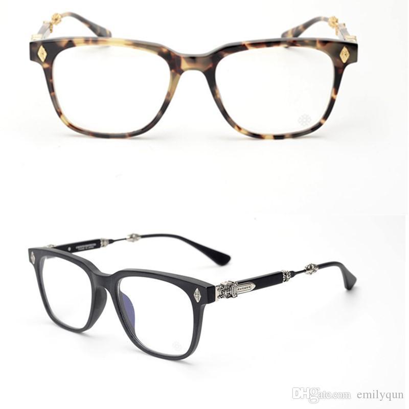 Homens de marca de Prata Armações de Óculos para As Mulheres Vidros Ópticos Do Vintage Quadro para Homens Armações de Óculos de Armação de Óculos de Miopia com Caixa Original