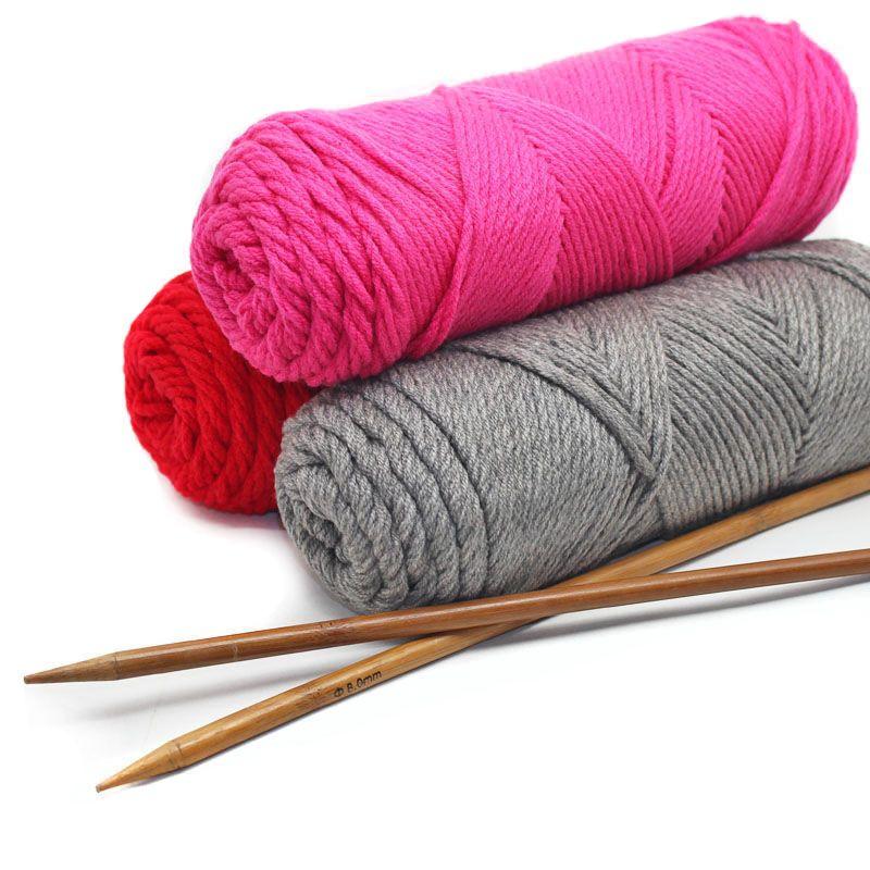 5pcsX150g Superdick Häkelgarn Cotton Blended Wolle Garn für Stricken Einen Schal Neueste Gefärbtes Thema Organic Cotton T200601