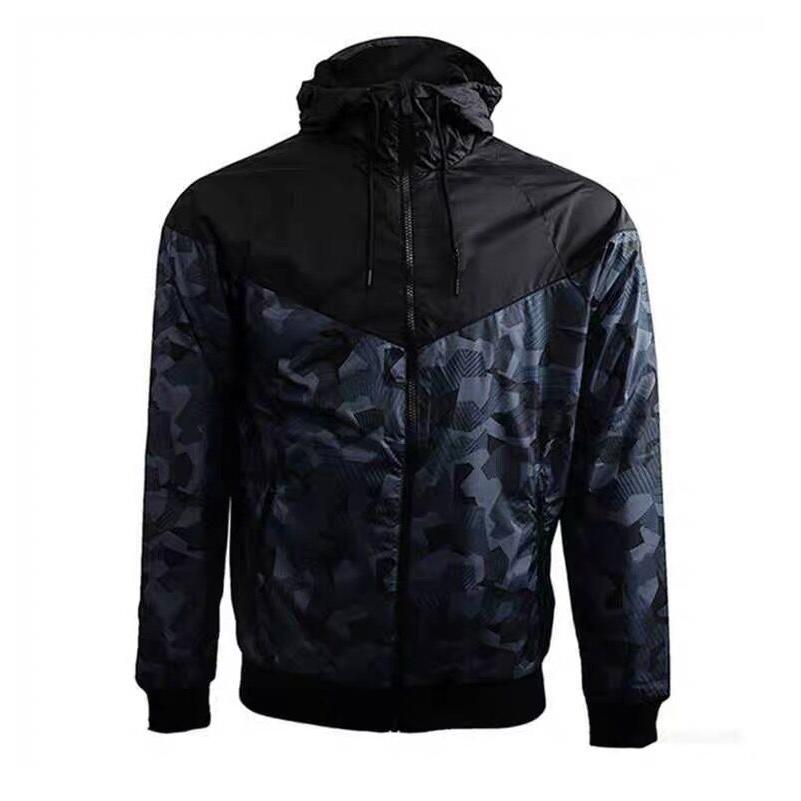 2019 Tasarımcı Ceketler Kamuflaj Rüzgarlık Spor Aktif Mont Koşu Giyim İlkbahar Sonbahar Uzun Kollu Fermuar Hoodies M-3XL CE98242