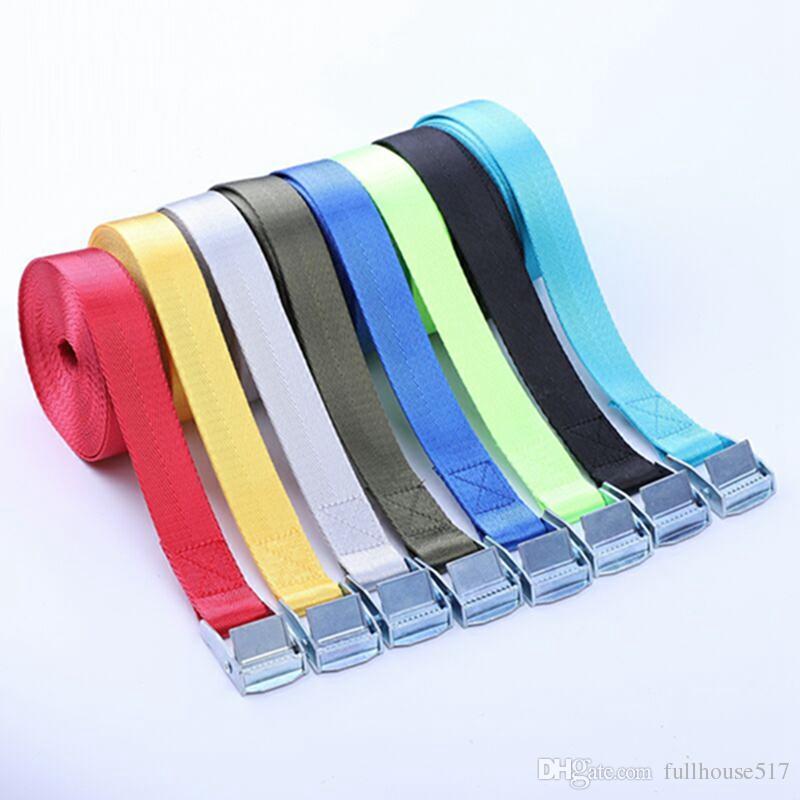 Laço Strap baixo amarração correia de carga acolchoados Cam Lock Buckle cintas de amarração de cintagem Tape 5m para motocicletas Equipamento Lawn Mover Eletrodomésticos