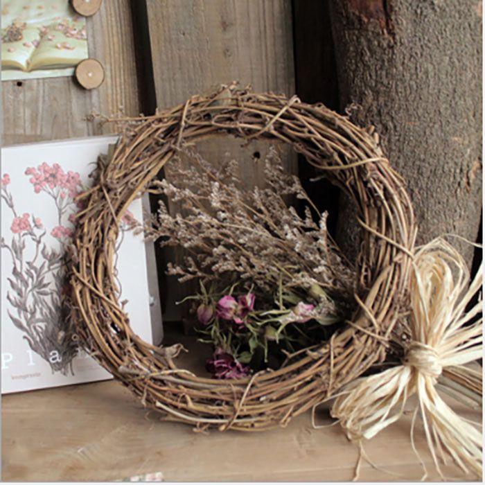 Décoration de Noël bricolage naturel rotin Garland Accessoires Porte avant Kegon Shell Herbe Boxwood Porte mur fenêtre de groupe