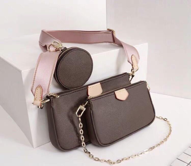Neue Geldbörse Stück Taschen 3 Schulter Handtaschen für Frauen Packung Original Dame Messenger Bag Designer Kreuz Körper Satchel Ledertasche Großhandel Randn