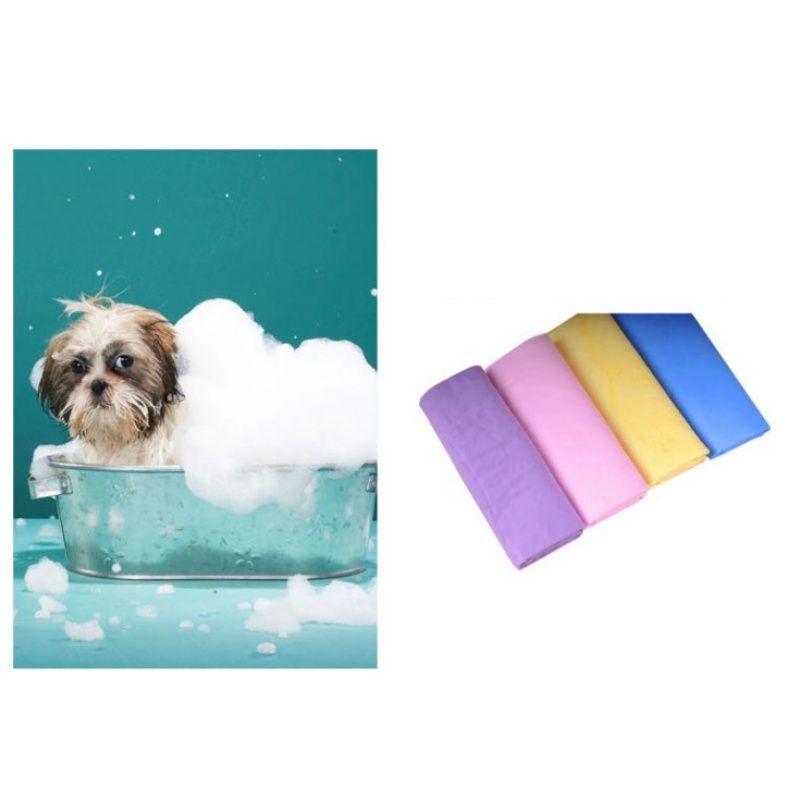 Séchage rapide serviette douce et chaude Pet Puppy Dog Chien Chat Toison Blanket Lit Mat S / M