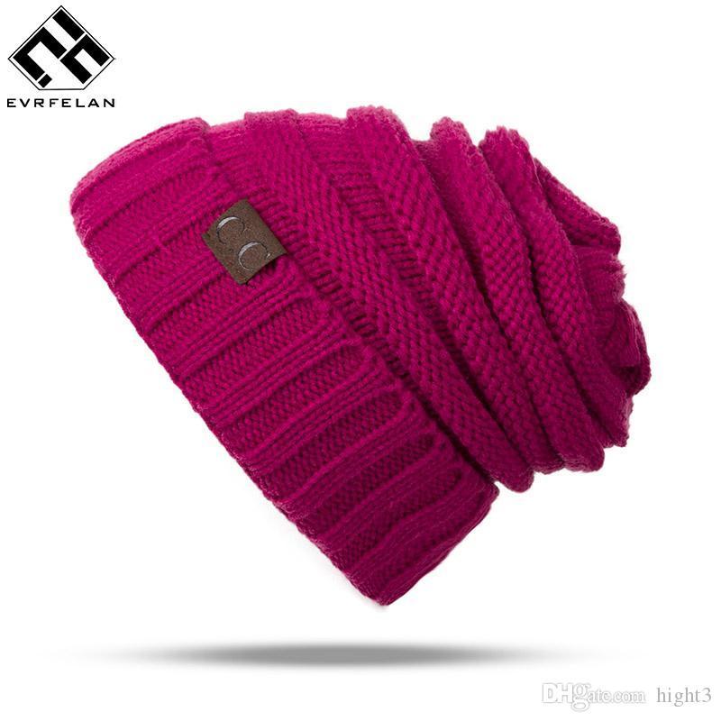 Fashion Women Winter Hat For Women Skullies Beanies Brand Female Knitted Hat Cap Warm Brand Beanie Hat Hot Sales Wholesale