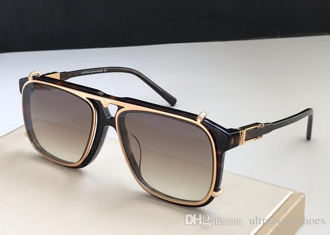 Популярные продажи объектива UV400 мужские пластины солнцезащитные очки квадратный качественный дизайнер с металлической рамкой верхняя мода роскошь последняя комбинация коробка UGIG