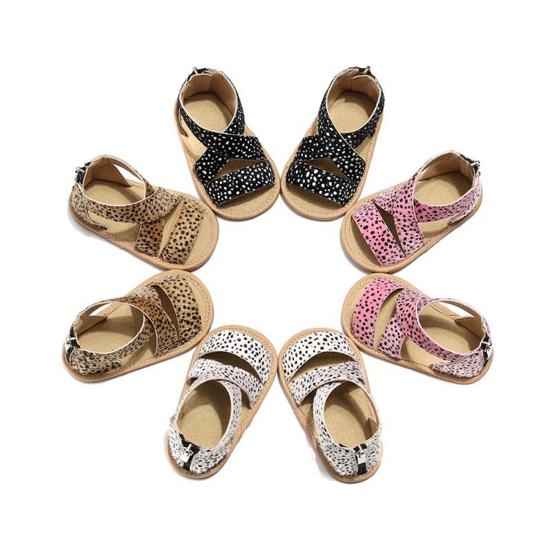 Enfants Chaussures d'été du nouveau-né pour bébé bébé garçon doux Lit Chaussures Leopard bébés anti-dérapant Sneaker Prewalker 0-18m