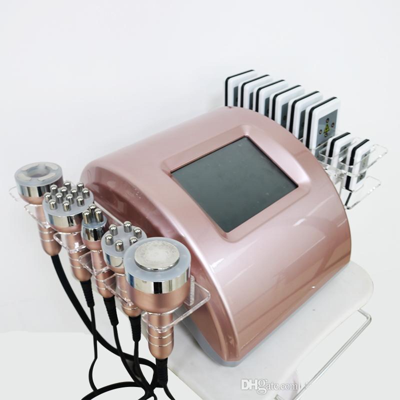 Ücretsiz Kargo Ultrasonik kavitasyon zayıflama makinesi Radyo Frekansı Lipo lazer Vakum Vücut Şekillendirme Zayıflama Vakum Foton Masaj
