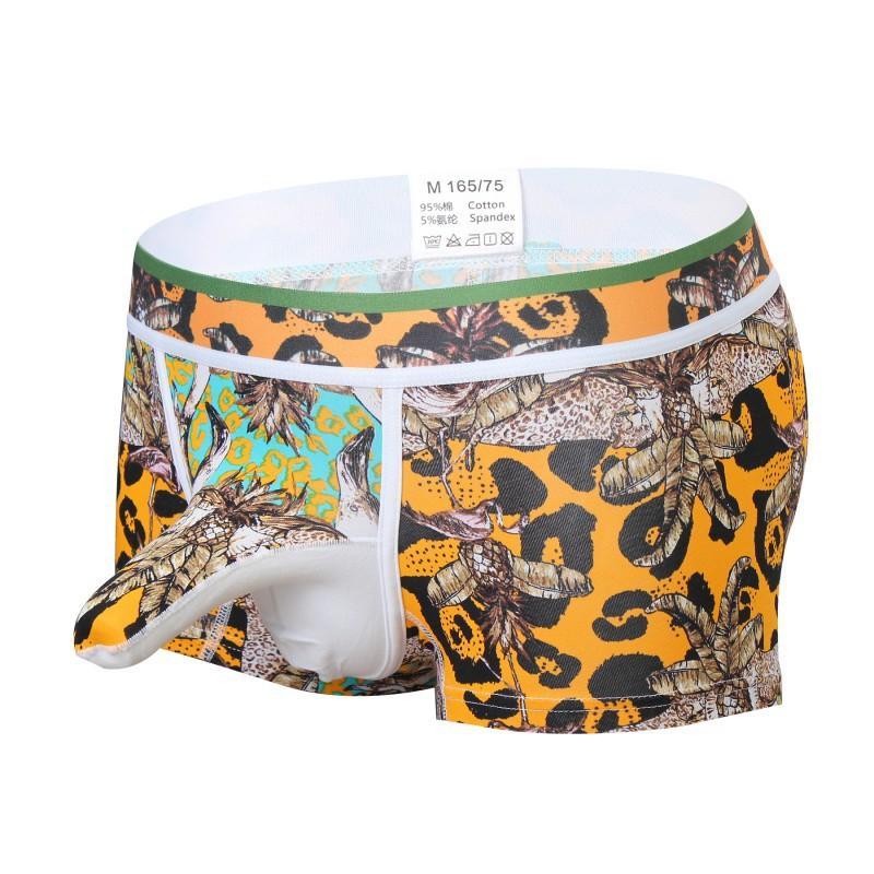 Nouveauté hommes Sous-vêtements sexy boxers Imprimer Underpants Jockstrap Gay Couple boxers Pouch pénis Hommes court érotique Elephant Nose Cuecas Sous-vêtements