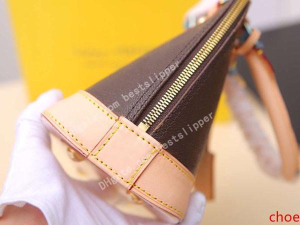 Конструктор Роскошные Shell сумка Женщины из натуральной кожи ALMA BB 53152 Классический стиль Мини Tote сцепления плече сумки Креста тела сумки на ремне