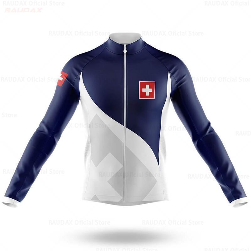 2020 Schweizer Team hohe Qualität der Männer lange Hülsen-Radfahren Sweatshirt MTB Langarm-Radsportbekleidung Bergsportbekleidung