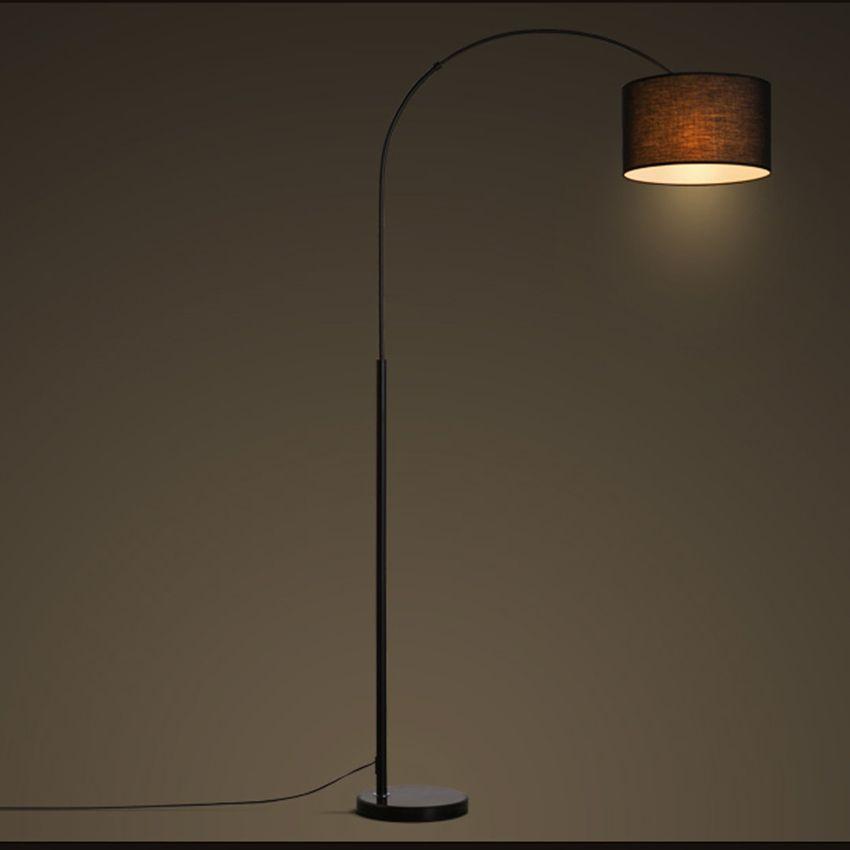 Diseño Lámpara De De Sala Pie De De Lámparas De Luminarias Para La De Tela Llevada De De Blanca Dormitorio Noche Negro Pie Moderno Compre Estar JFclK13T