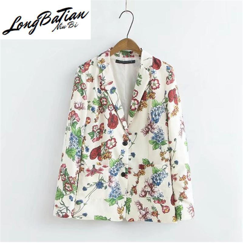 اثنين من قطعة اللباس مجموعة الإناث ربيع الخريف أزياء طباعة سترة + عالية الخصر السراويل دعوى عارضة السيدات معطف بنطلون النساء ملابس