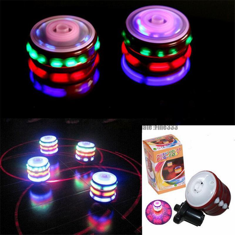 NEW Flashing Light Music UFO Gyro، Flash Gyro، لعبة متوهجة، Music Fidget spinner