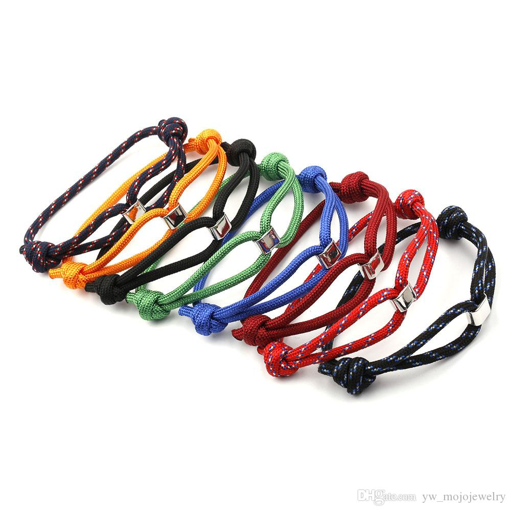 12 PCS Wholesale Mens Fashion Design Simple Handmade Sport Bracelet Colorful Paracord Bracelet Jewelry for Gift