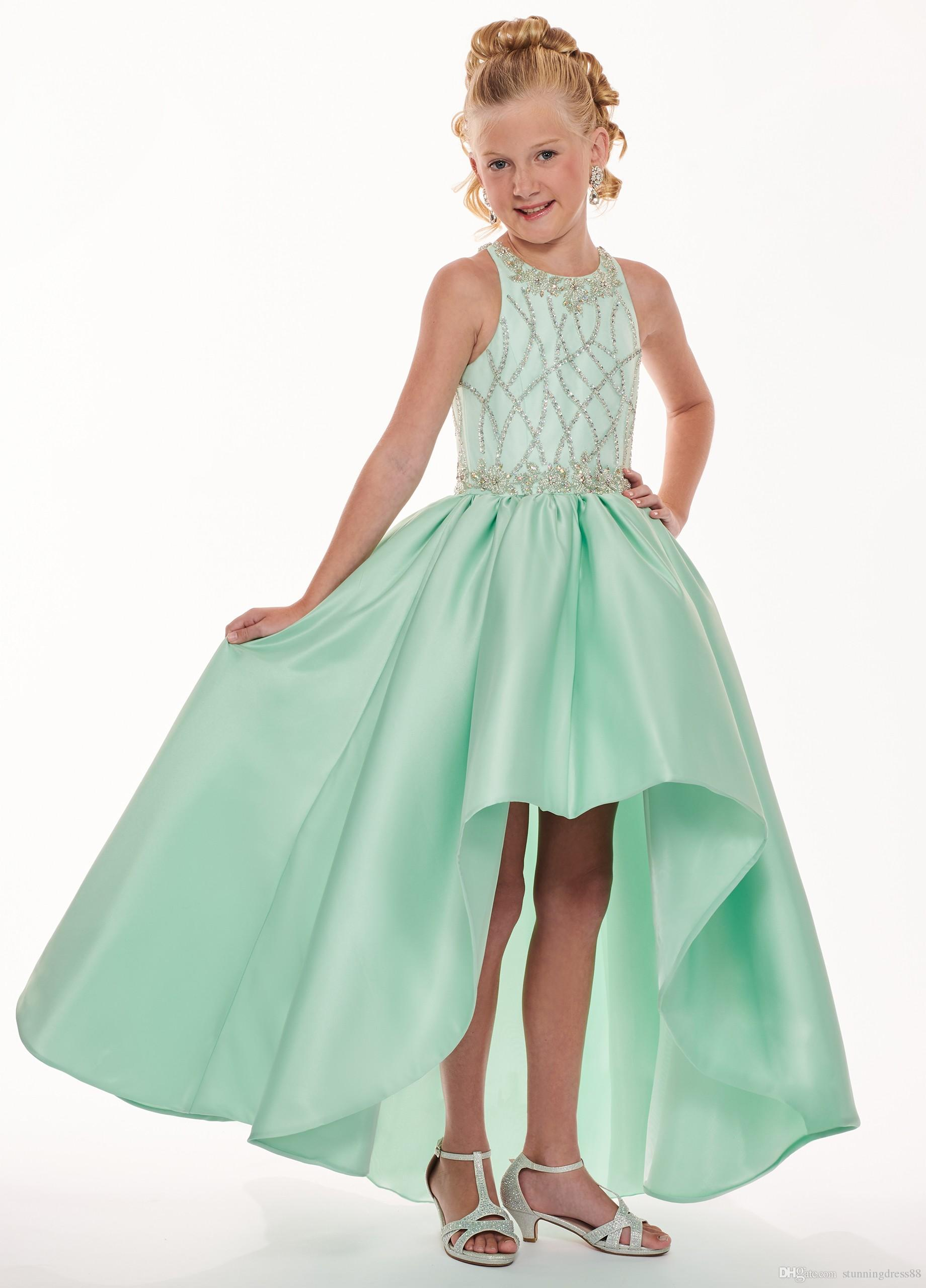 Girls Mint Pageant Dresses