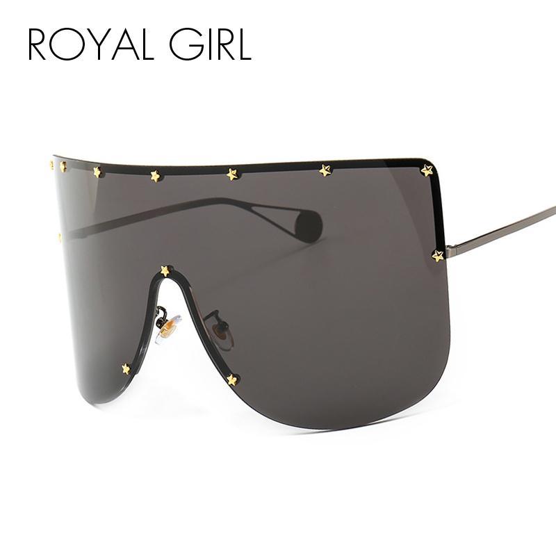 Kraliyet Kız Moda Boy Gözlüğü Güneş Kadınlar Marka Tasarımcısı Vintage Güneş Gözlükleri Erkekler Pentagram Kadın Erkek Shades Ss301 C19041001