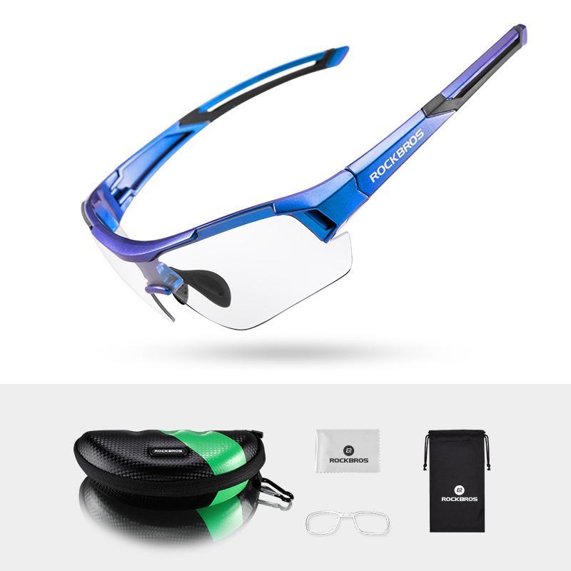 Gafas de ciclismo ROCKBRO Gafas de sol fotocromáticas UV400 con montura de miopía Gafas de sol para hombres y mujeres Gafas de bicicleta para bicicleta Gafas de motocross