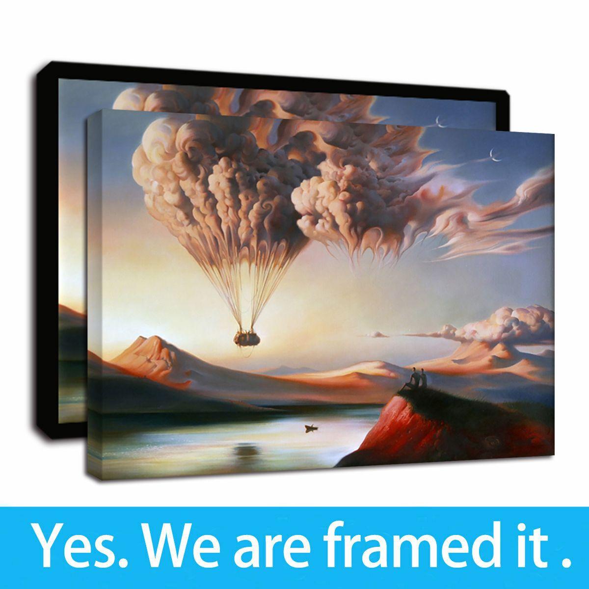 Pinturas de la Segunda Guerra Mundial Guerra globo de aire caliente enmarcada óleo del arte moderno de la lona Giclee estampados de animales del arte de la pared en la lona para la decoración casera