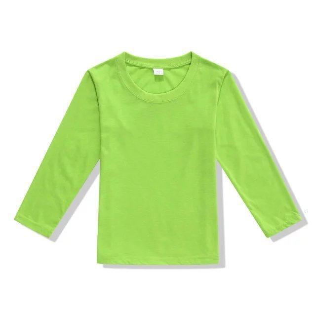 Long Sleeve Pure Cotton Round Neck Advertisement Unlined Upper Garment Blank Hand T Shirt Children Fund Culture Blouses Written Words