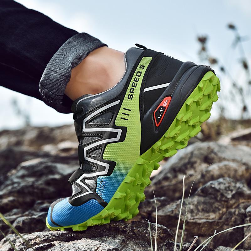 2019 Erkek ayakkabı Dağ Atletik Kaymaz Taban Büyük Beden Casual Solomon Ünlü Hombre Mujer Ayakkabı Koşu Açık