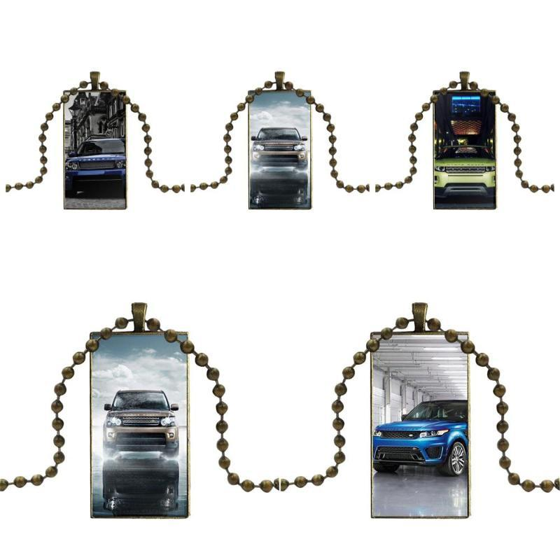 Awesome Range Rover For Women Handmade Girls Glass Pendant Necklace Handmade Half Pendant Rectangle Necklace