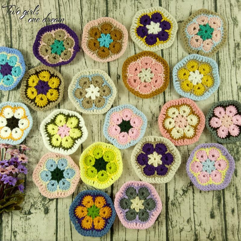 Original 11cm Hand Crochet Doilies Pad Handmade Flowers Cup Mat Photo Props Decorative Placemat DIY Clothes Accessory 30pcs/lot D19010902