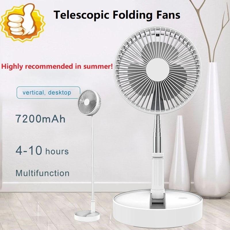 Напольный телескопический складной Настольный вентилятор многофункциональный настольный USB зарядки вентилятор домашний напольный вентилятор персональный воздушный охладитель для дома/кухня/путешествия