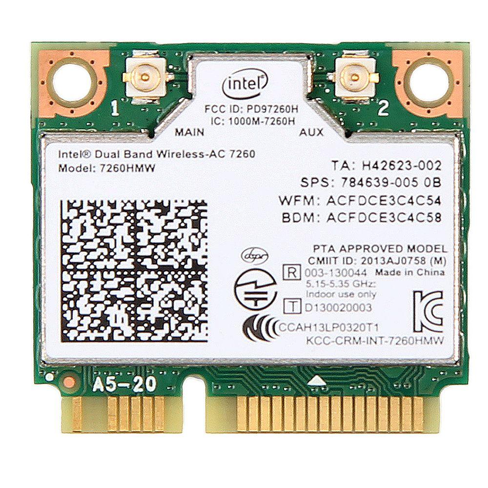 Dual-Band-Mini-Karte 7260H Wireless-Ac Intel Wifi Bluetooth 4.0 7260 cm