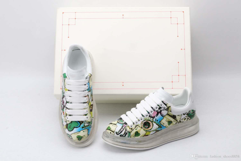 ربيع / صيف 2020 ترقية الرجال والنساء شفافة مطاطية سميكة الوحيد في الهواء الطلق الأحذية عارضة حجم 34-45 جودة عالية