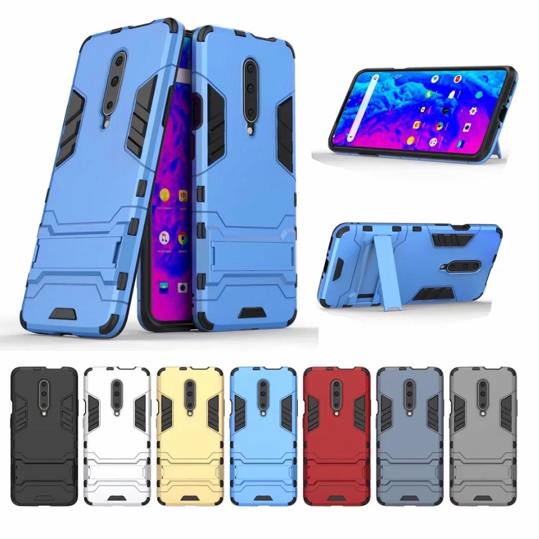 Гибридный Heavy Duty противоударный чехол для One Plus 7T 7 Pro редми 8 8А Xiaomi 9 Samsung A90 5G A70S M30S A10S A20S Hard PC + TPU держатель 2в1 Обложка