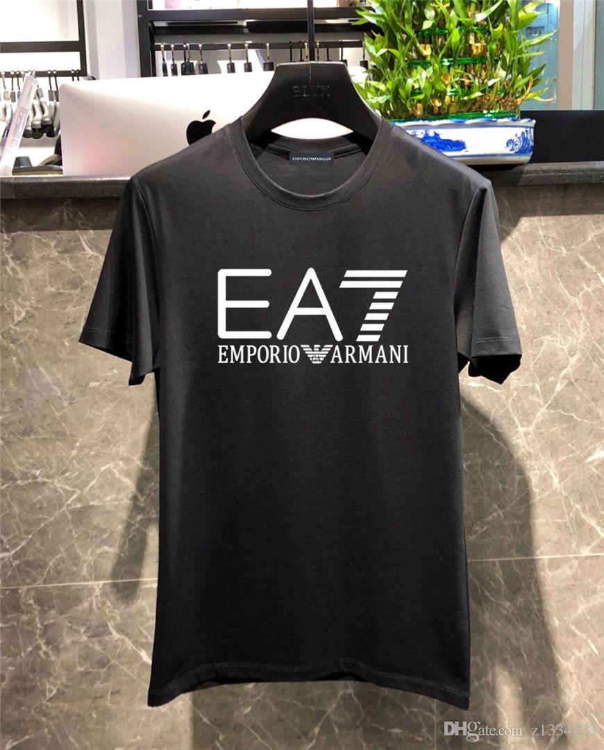 2020 Yeni Stil 270g Nakış Tasarımcı Erkek T Shirt Günlük Sade Gençlik Man Moda Sokak Gevşek Spor Çiftler AB Boyut Vintage T Gömlek
