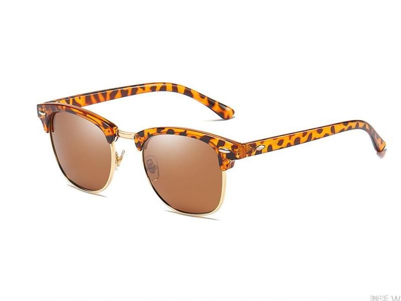 Pesca Outdoor Sports Boutique óculos polarizados UV400 na moda Metade Quadro óculos de sol das mulheres dos homens Golfe Driving Óculos Eyewear E22707