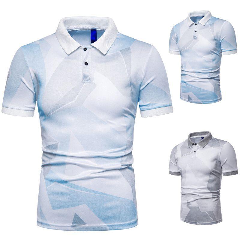 2020 Hommes Femmes Polo T-Shirt Mode Hommes Polos occasionnel Hommes Polo Impression haute qualité d'été Elasticité à manches courtes