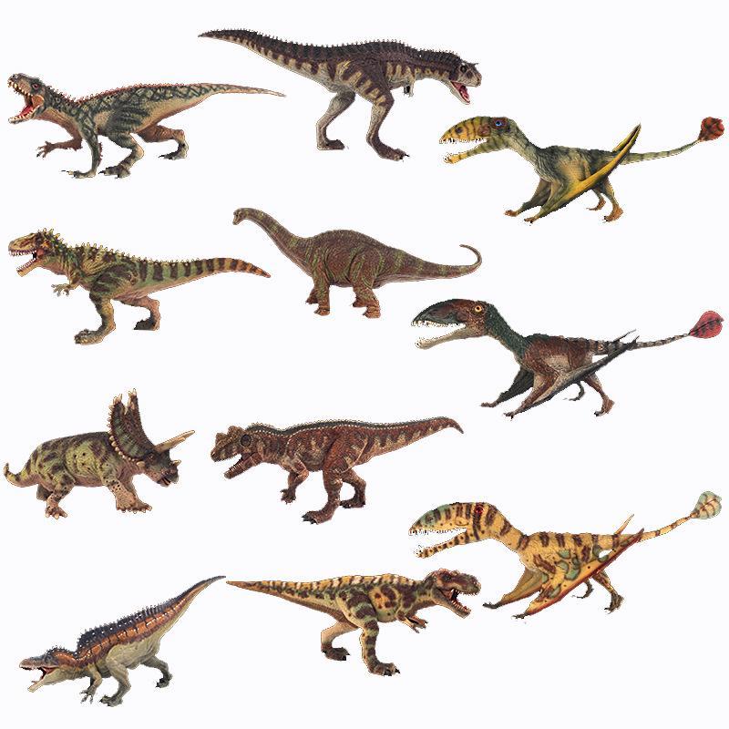 Cross Border Jurassic Large Size Solid Dinosaur Model Toy T-Rex Shark Tooth Dragon Brachiosaurus Educational Dinosaur Toy